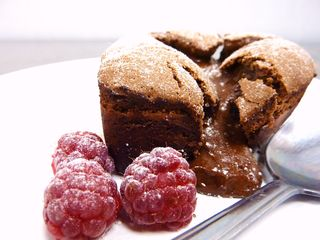 Hot Chocolate Fondant Cake