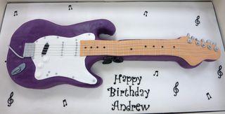 50th Birthday Guitar Cake