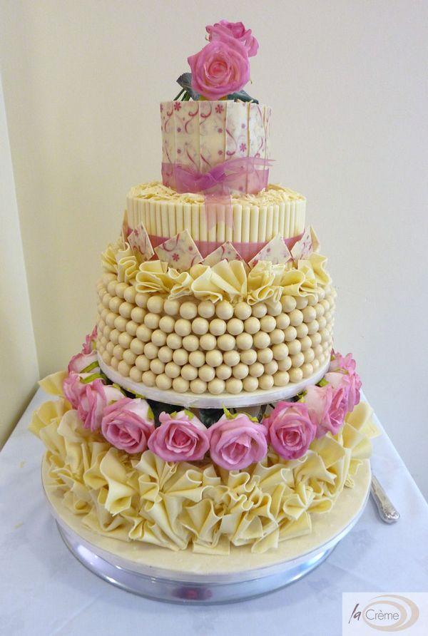 4 Tier Chocolate Extravaganza Wedding Cake - La Creme Patisserie Blog