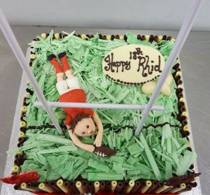 Happy 18th Birthday Rugby Cake s