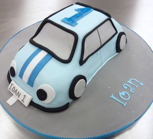Ioan 1st Birthday Car Cake