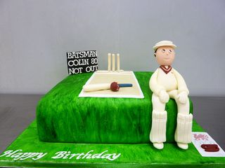 80th Birthday Cricket Cake