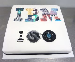 IBM 100 years celebration cake