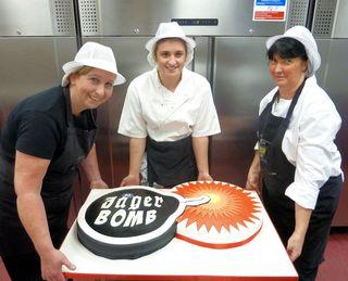 La Crerme Team with Jager Bomb Cake s