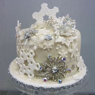 Winter Wedding Cake Top tier