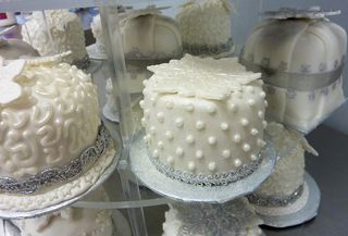 Individual Winter Wedding Cakes