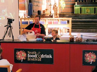 Sian and izzy demo at neath food festival s