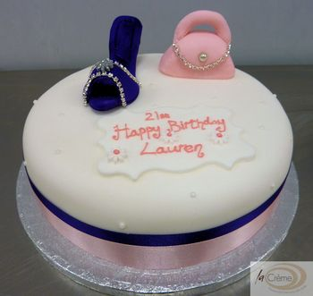 21st Birthday Cake With Shoes And Handbag2