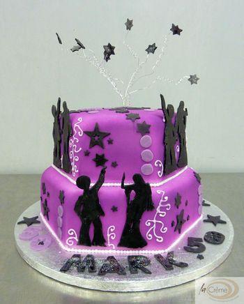 70's Disco Birthday Cake