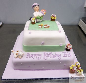 70th Birthday Cake With Gardening Theme