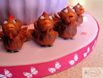 Birthday Cake chickens