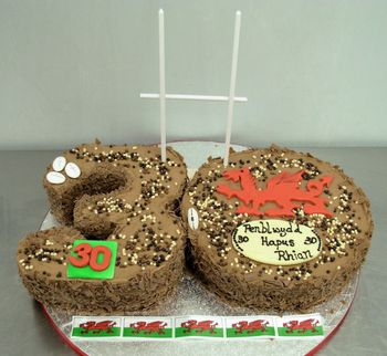 Chocolate 30th Rugby Birthday Cake
