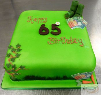Gardening 65th Birthday Cake