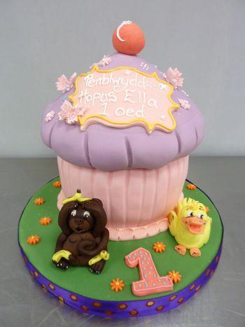 Tremendous Birthday Cakes Giant Cup Cake Birthday Cake Funny Birthday Cards Online Aboleapandamsfinfo