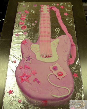 Birthday Cakes Guitar Cake