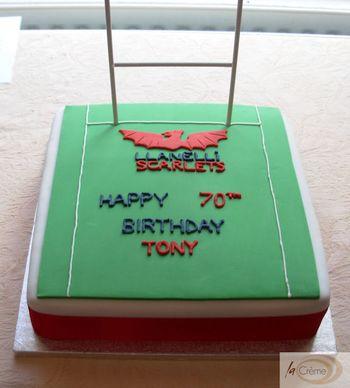 Llanelli Scarlets 70th Birthday Cake
