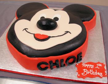 Mickey Mousse Birthday Cake