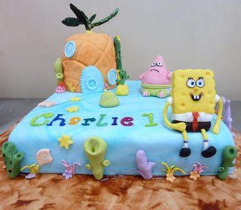 Sponge Bob 1st Birthday Cake