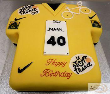 Tour de France Yellow Jersey 40th Birthday Cake