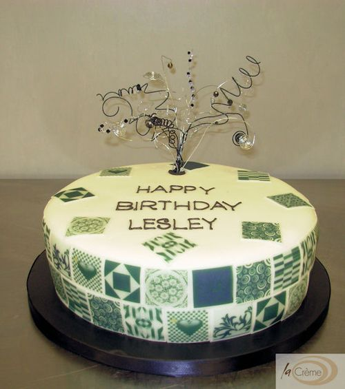 Outstanding Maderia Cakes Black White Tile Birthday Cake Funny Birthday Cards Online Elaedamsfinfo