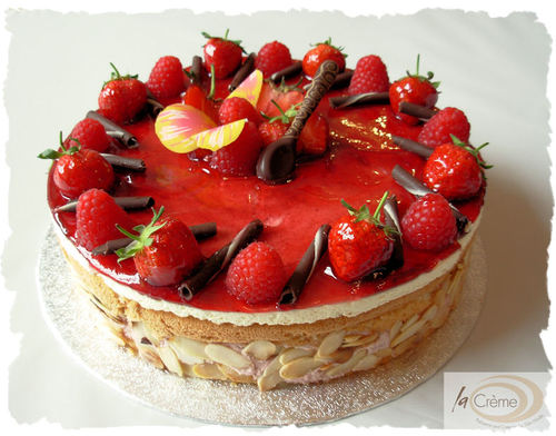 Raspberry Mousse Gateau