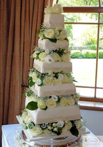 5 Tier Ivory Wedding Cake 5