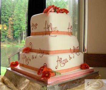 Alun & Anna's 3 tier Wedding Cake