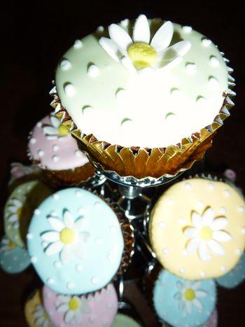 Pastel colour Wedding Cup Cakes