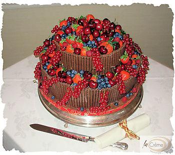 Cake With Chocolate Cigarellos
